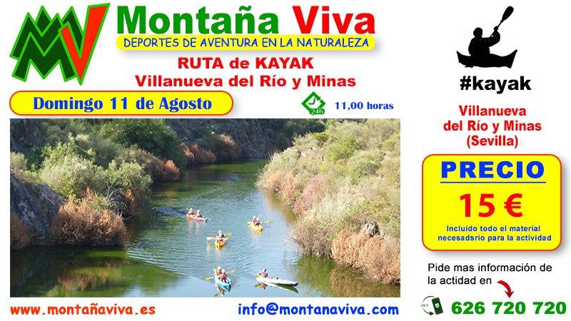 RUTA de Kayak Villanueva del Río y Minas